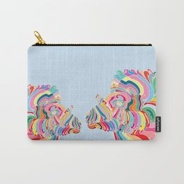 Goat in Rainbow Carry-All Pouch