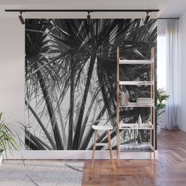Palm Tree Tropical Leaves Silhouette Wall Mural