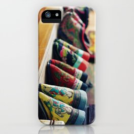 Footbinding slippers iPhone Case