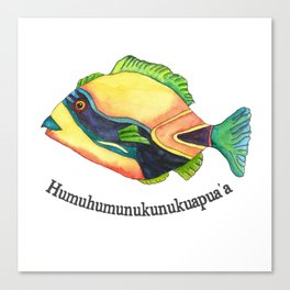 H is for Humuhumunukunukuapua'a Canvas Print