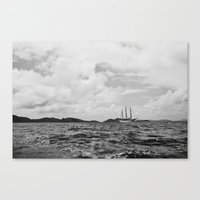 pirate ship Canvas Prints featuring PIRATE SHIP by Eliesa Johnson