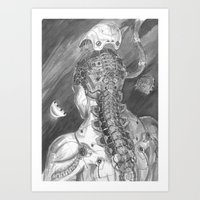 android Art Prints featuring Android by Zhjake