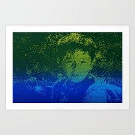 Abstract Portrait of a boy Art Print