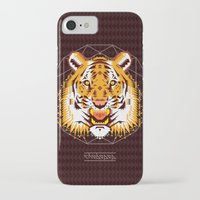 thundercats iPhone & iPod Cases featuring Geometric Tiger by chobopop