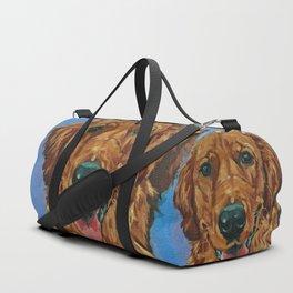 Coper the Golden Retriever Dog Portrait Duffle Bag