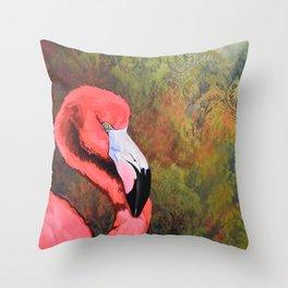 flamingo VI Throw Pillow