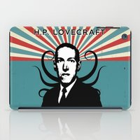 lovecraft iPad Cases featuring H.P. Lovecraft Retro by Volkan Kutlubay