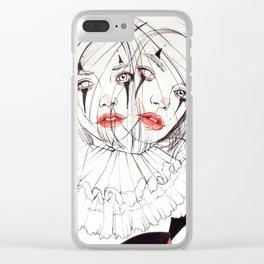 Carnival Clowns Clear iPhone Case