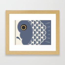 Koinobori | Grey Framed Art Print