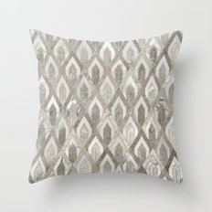 Art Deco Marble Pattern Throw Pillow