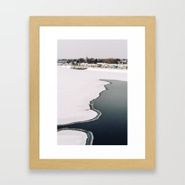 Frozen Ottawa River Framed Art Print