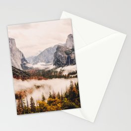 Amazing Yosemite California Forest Waterfall Canyon Stationery Cards