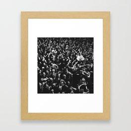 Crowdsurfing. Framed Art Print