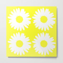 Yellow Daisy Bouquet Metal Print