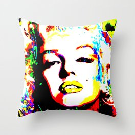 Pop Art of Actress M. Monroe - © Doc Braham; All Rights Reserved Throw Pillow