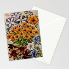 garden 012 Petunia  calliopsis radiata  Linum Perenne  dimorphotheca7 Stationery Cards