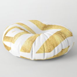 ART DECO VERTIGO WHITE AND GOLD #minimal #art #design #kirovair #buyart #decor #home Floor Pillow