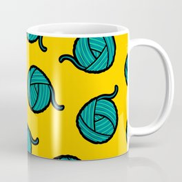 Wool & Yarn Pattern Coffee Mug