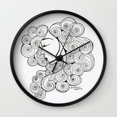 Spiral Hair Wall Clock