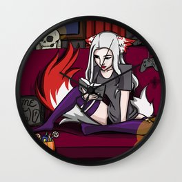 Kitsune Reading  Wall Clock