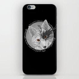 fox and crow  iPhone Skin