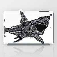 jaws iPad Cases featuring Jaws by Lauren Moore