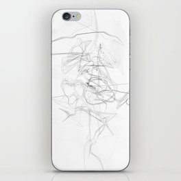 """""""Whatever, Oh Well"""" Black and White Abstract Design iPhone Skin"""