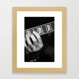 Guitar Hand Framed Art Print
