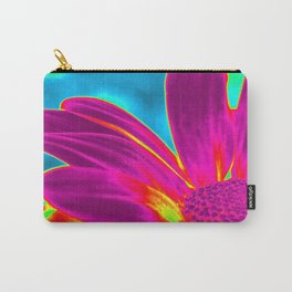 Flower | Flowers | Neon Daisy Carry-All Pouch