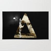 bastille Area & Throw Rugs featuring Bastille - Skulls by Thafrayer
