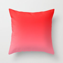 Scarlet and Light Pink Gradient Throw Pillow