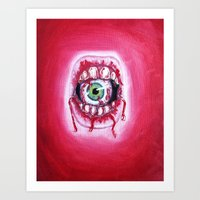 mouth Art Prints featuring Mouth by Tufty Cookie