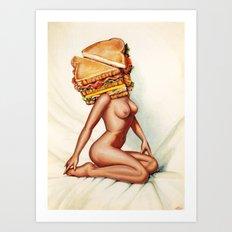 Sandwich Girl Art Print