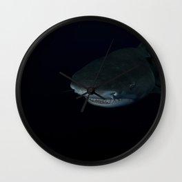 Shark After Dark Wall Clock