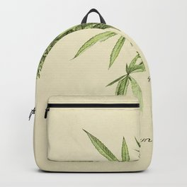 Vintage botanical print - Cannabis Backpack
