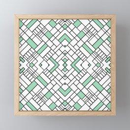 PS Grid 45 Mint Framed Mini Art Print