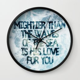 Mightier Than the Waves Wall Clock