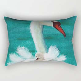 Swan mother Rectangular Pillow