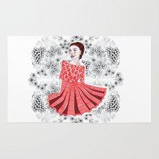 Red Dress Rug