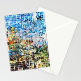 Modern Geometrical Colorful Squares - Art By Sharon Cummings Stationery Cards
