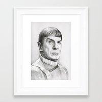 spock Framed Art Prints featuring Spock by Olechka