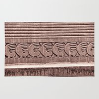 f1 Area & Throw Rugs featuring Inca Ruins No. 1 by Anthony M. Davis