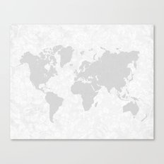 Intricate World Map Canvas Print