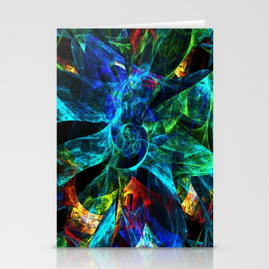 Colorful Petals Stationery Cards