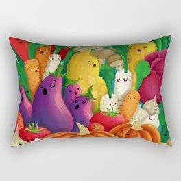 Nice People Eat Vegetables - background (Made with Danny Ivan) Rectangular Pillow