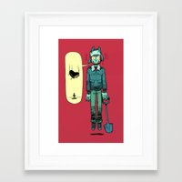 cartoons Framed Art Prints featuring like in cartoons by musa