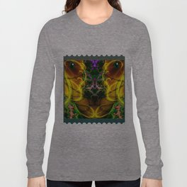 Colorful Aliens Rich Figures Fractal Long Sleeve T-shirt