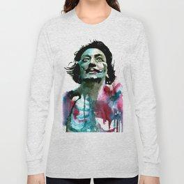Watercolor Dali Long Sleeve T-shirt