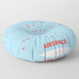 Air route and airport hub Airspace map Floor Pillow