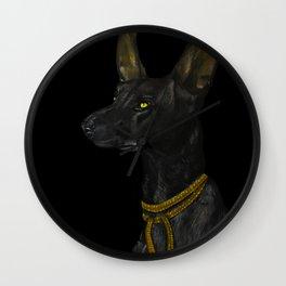 Egyptian Dog Wall Clock